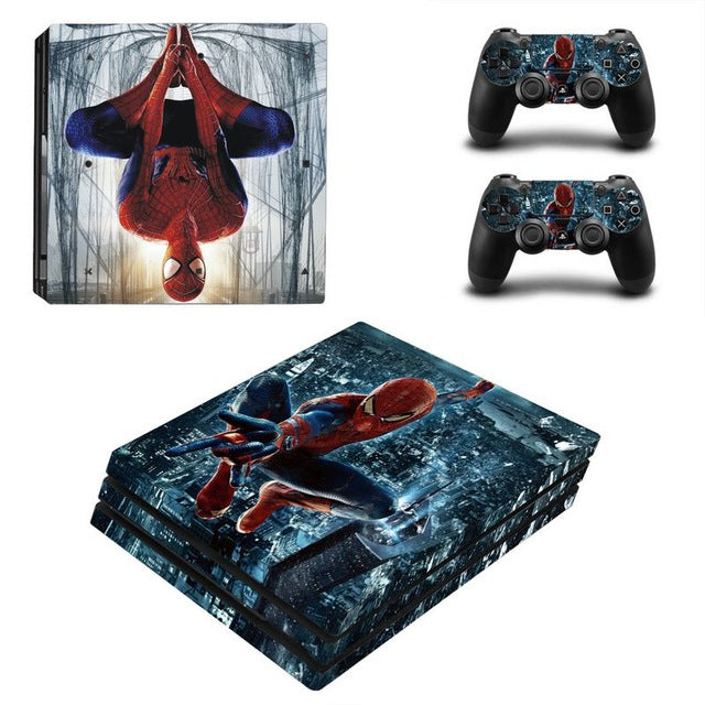 PS4 Console Skin - Superheroes (Spider Man and Captain America) Collection