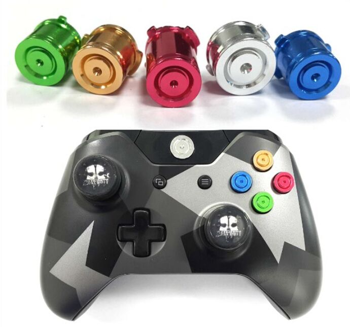 5pcs/set Chrome Metal ABXY Bullet Buttons
