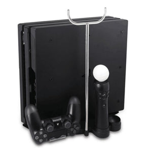 5 in 1 Multi-Functional Vertical Stand for PS4 Slim PS4 Pro + Charging Station