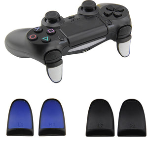 2 Sets R2 L2 Trigger Extenders for Playstation Dualshock 4 Pro Slim Gamepad