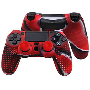 2 IN 1 PS4 Dualshock 4 Rubber Gamepad Skin + Grips