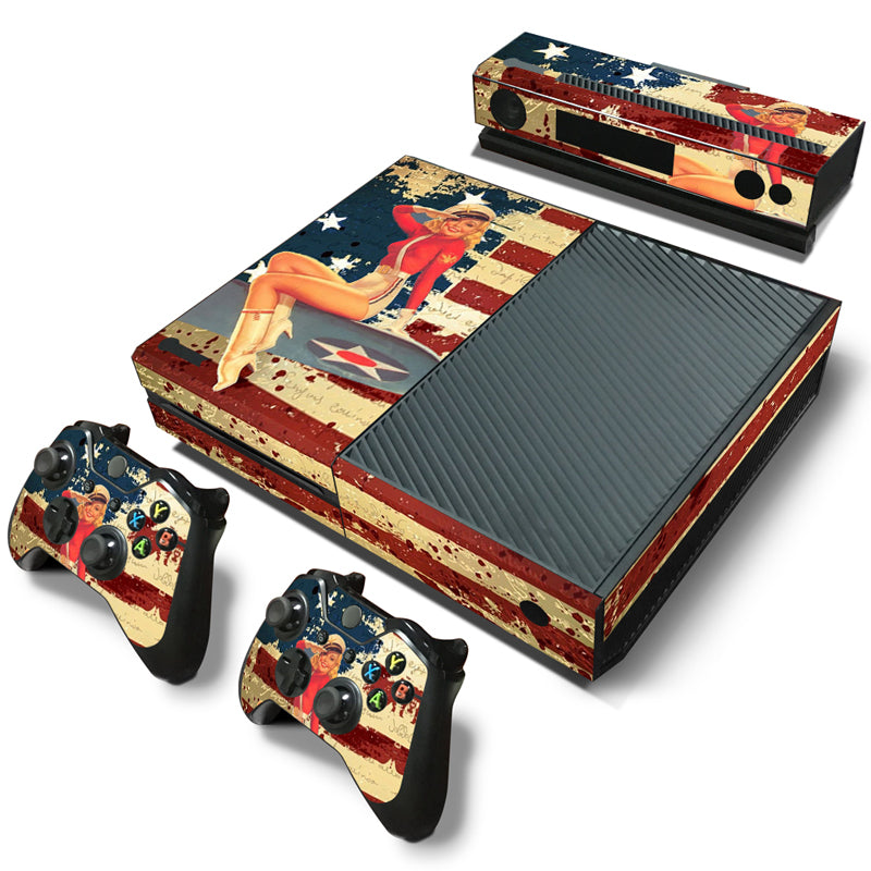 Xbox One Console Skin - American Pin Up Girl
