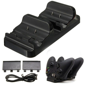 Xbox One - 3 In 1 Dual Charging Dock +2 Batteries