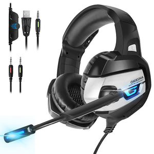 ONIKUMA Deep Bass Stereo Gaming Headphones with Microphone (PS4, Xbox One, PC)