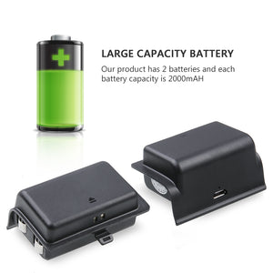 Xbox One Charging Station Dock + 2x Rechargeable Batteries