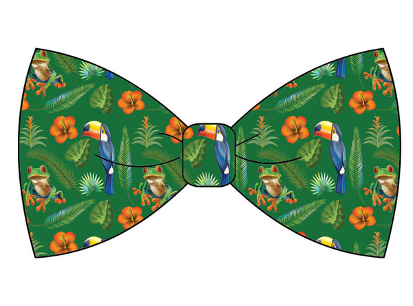 Amazon Jungle Custom Bow Tie