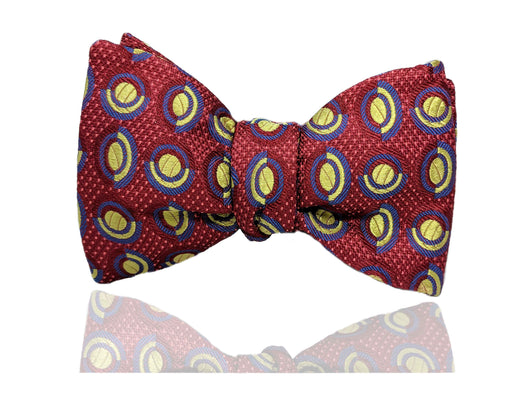 Red and Green Men's Bow Tie, Pre Tied Bow Tie, Self Tie Bow Tie