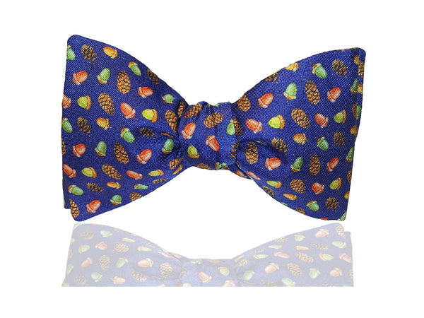 Navy Blue Mens Fall Bow Tie