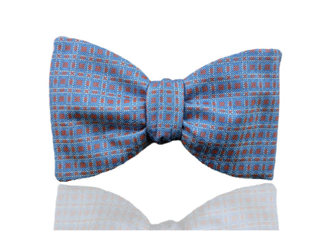 Light Blue Mens Pretied, Self Tie Bow Tie