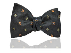Black and Orange Men's Bow Tie, Pre Tied Bow Tie, Self Tie Bow Tie