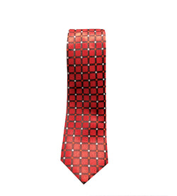 Red Checkered Mens Tie