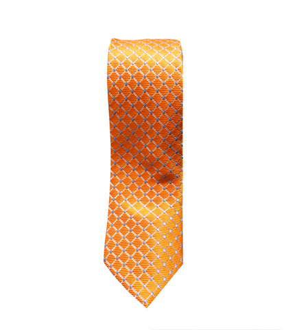 Orange Mens Neck Tie