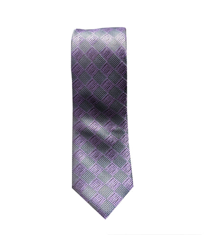 Purple Checkered Neck Tie
