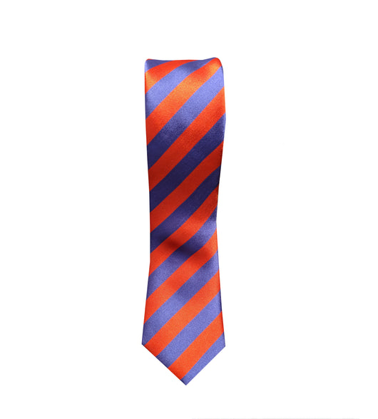 Royal Blue and Red Striped Neck Tie