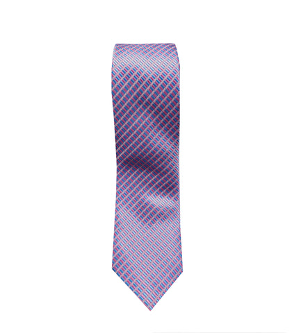 Purple and Pink Striped Neck Tie