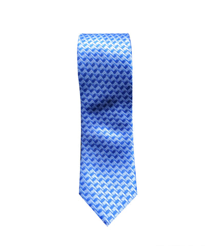 Blue Geometric Neck Tie