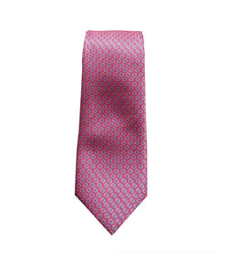 Purple and Pink Geometric Neck Tie