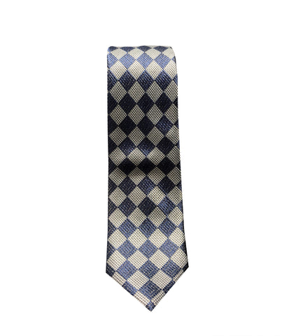Purple and Grey Checkered Neck Tie
