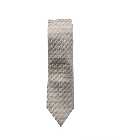 Grey Geometric Neck Tie