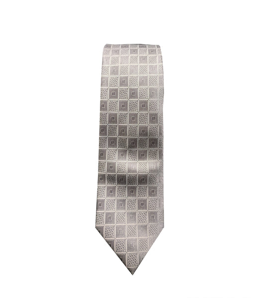 Grey Checkered Neck Tie