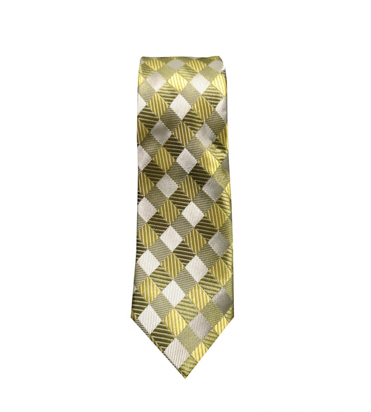 Green Checkered Neck Tie