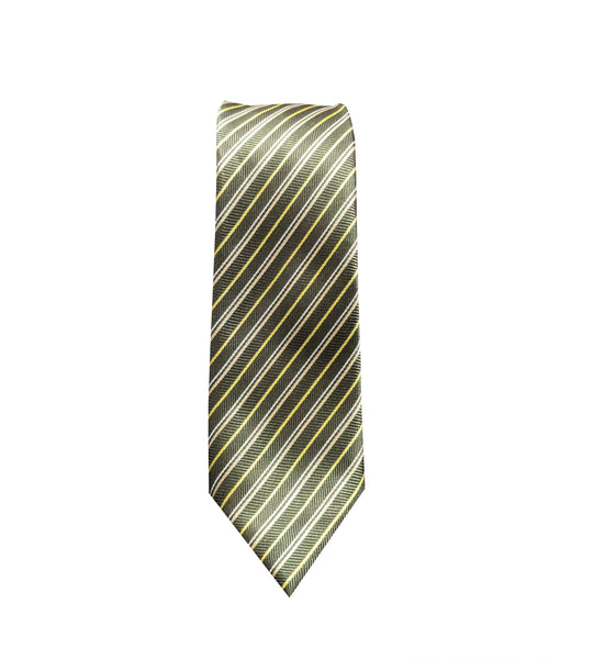 Green Striped Neck Tie