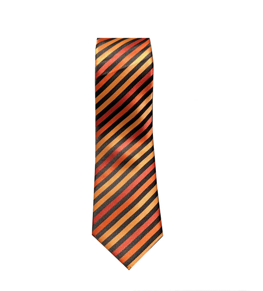 Shades of Orange Striped Neck Tie
