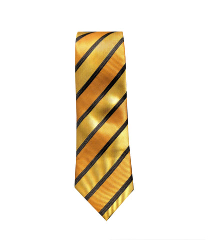 Orange and Gold Striped Neck Tie