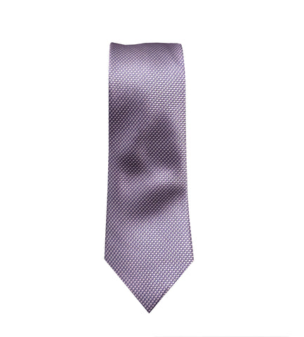 Purple Geometric Neck Tie