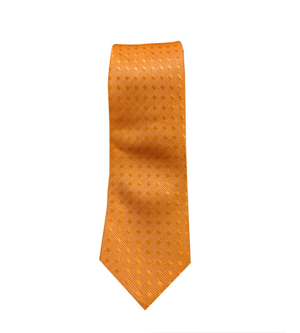 Orange Checkered Neck Tie
