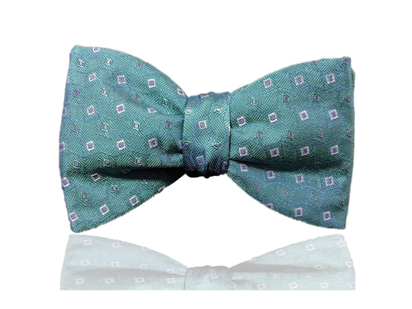 Turquoise Green Men's Bow Tie, Pre Tied Bow Tie, Self Tie Bow Tie