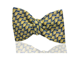 Unique Yellow Mens Pre Tied, Self Tie Bow Tie
