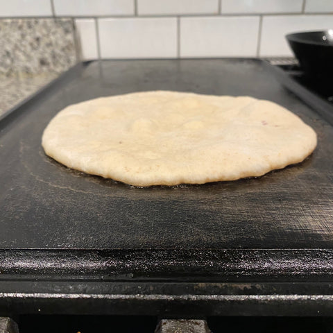 cooking your naan bread