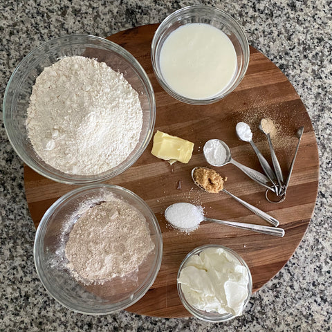 rolled out naan bread dough