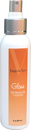 Virgo de Novo Glass Detangler Spray + Keratin - 4 oz.