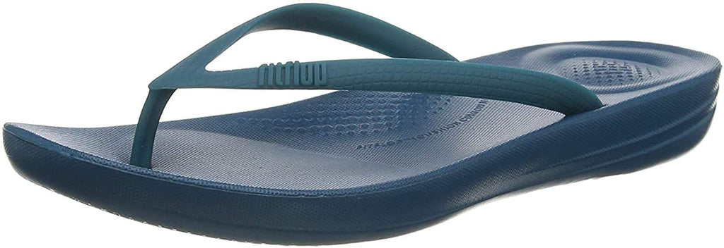 FitFlop Women's iQushion Ergonomic Flip-Flops, Sea Blue, 9