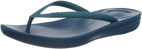 FitFlop Women's iQushion Ergonomic Flip-Flops, Sea Blue, 5