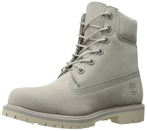 Timberland Women's 6in Premium W Winter Boot, Flint Grey Waterbuck/Monochromatic, 10 M US