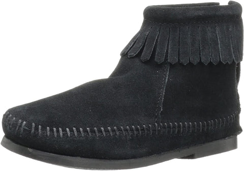 Minnetonka Back Zip Boot (Toddler/Little Kid/Big Kid),Black,9 M US Toddler
