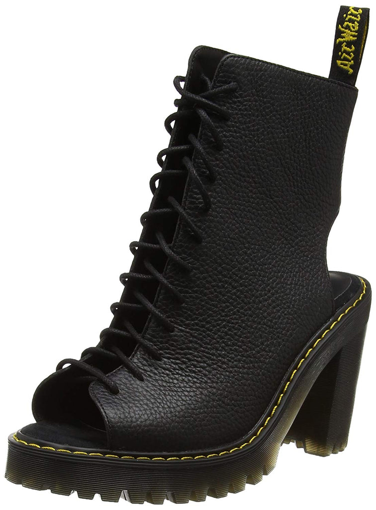 Dr. Martens Womens Carmelita Open Heel Lace Up Boot