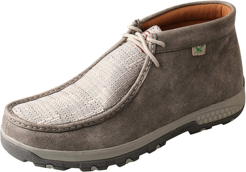 Twisted X Men's Chukka Driving Moc with CellStretch, Grey/Light Grey, 10.5W
