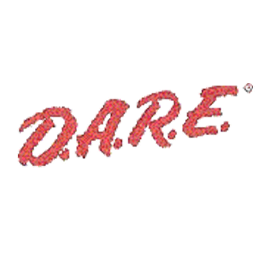 DARE Vinyl Decal - Red - Jagged - Reflective