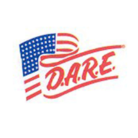 DARE Flag Vinyl Decal - Clear Background - Reflective