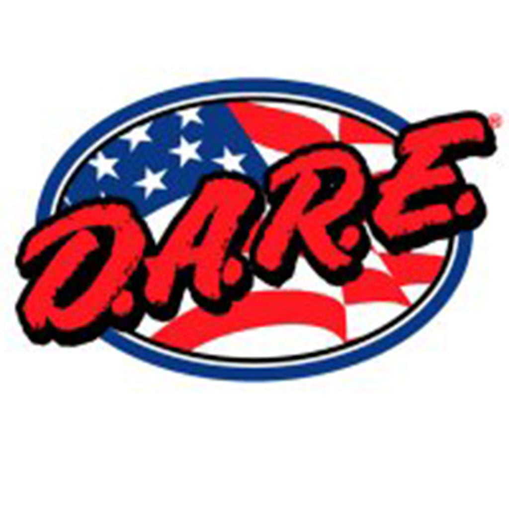 DARE Oval Flag Vinyl Decal - See Through