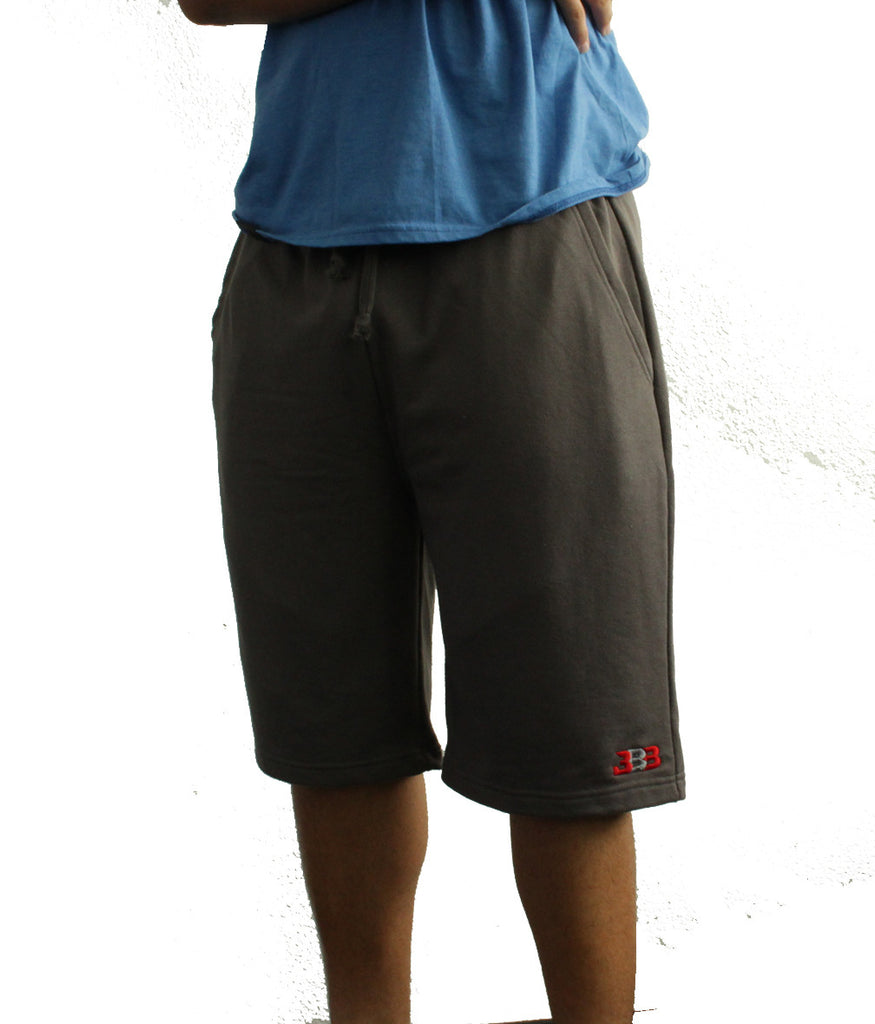 Gray Unity Shorts - Embroidered BBB