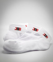 BBB Mid Crew Socks White - 3 Pack