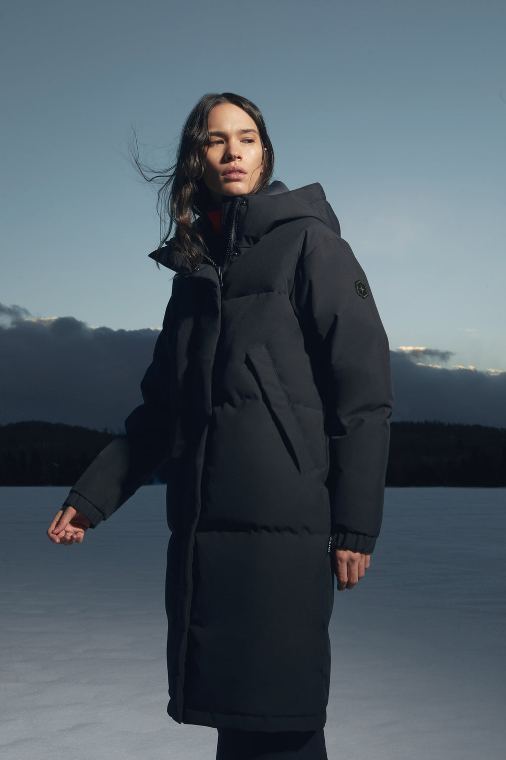 Quartz Co.'s Women Insulated Jackets Made in Canada with Recycled Textile Fabrics.