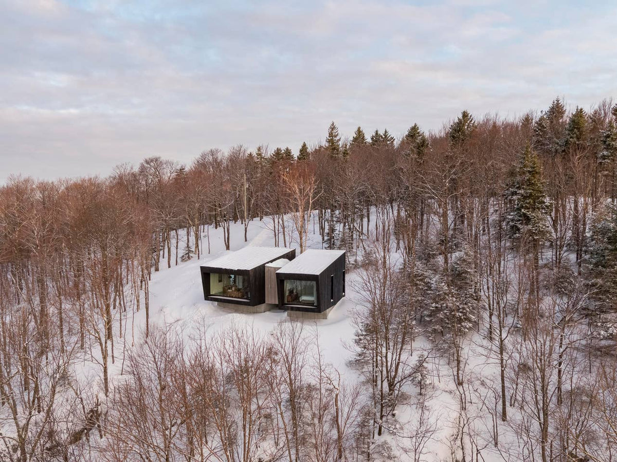 Quartz Co. winter jackets Made in Canada, five luxury airbnb cabins in Canada