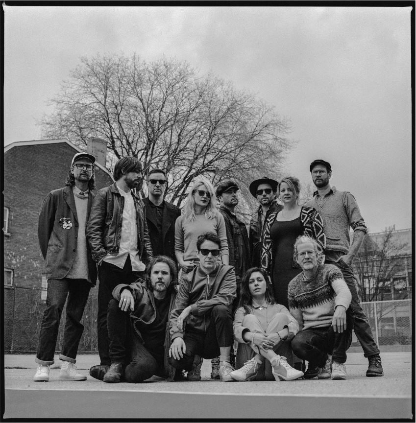 Quartz Co. winter jackets Made in Canada, Norman Wong picture shot of Broken Social Scene Band