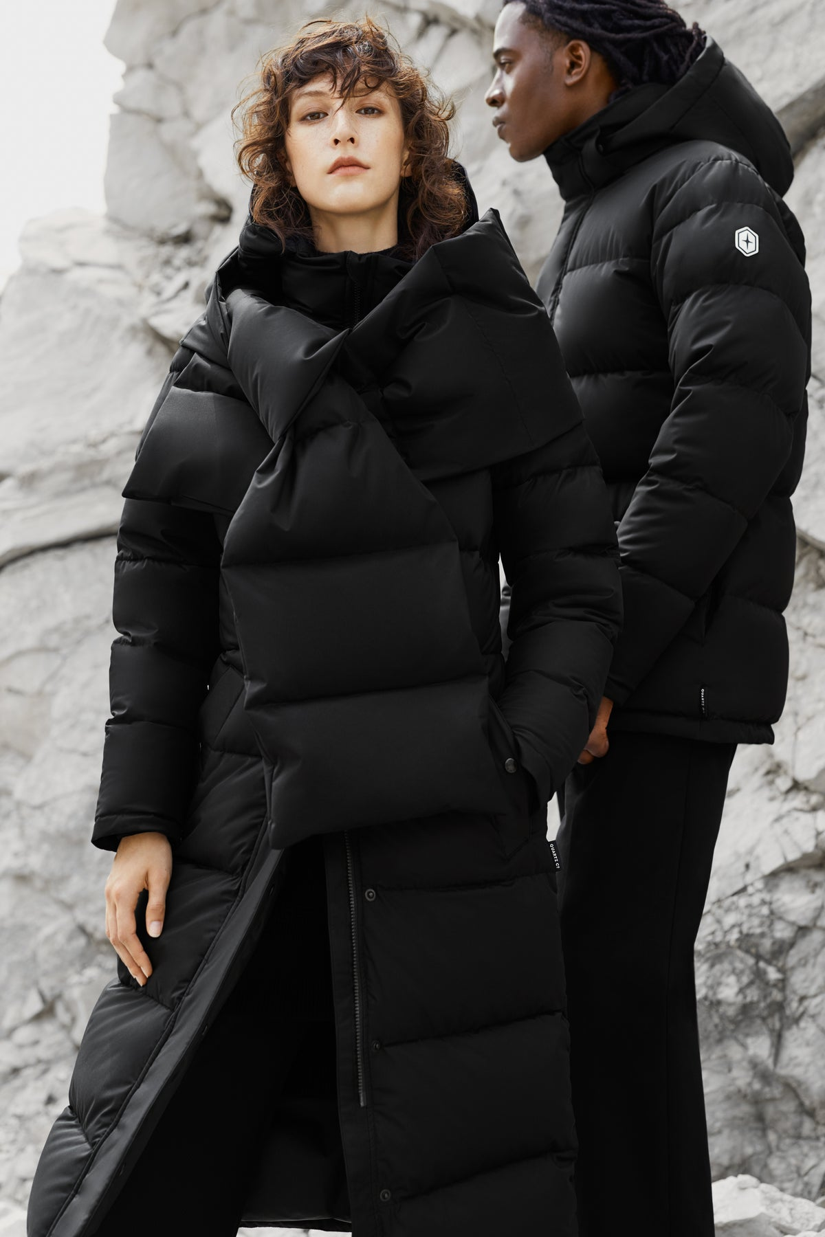 Quartz Co. winter jackets Made in Canada, Jane and Maguire jacket in black color